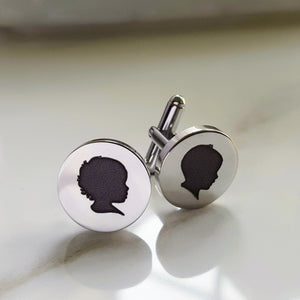 Silhouette Cufflinks (with one silhouette)