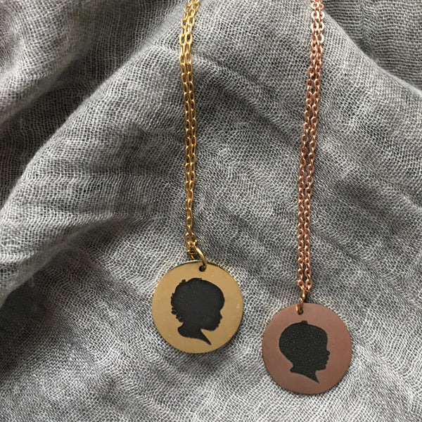 Gold Silhouette Necklace