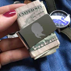 Silhouette Money Clip (one portrait)