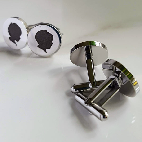 Silhouette Cufflinks (with two silhouettes)