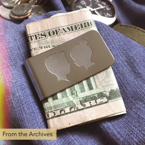 FROM THE ARCHIVES Silhouette Money Clip (two portraits)