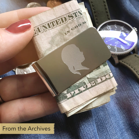 FROM THE ARCHIVES Silhouette Money Clip (one portrait)