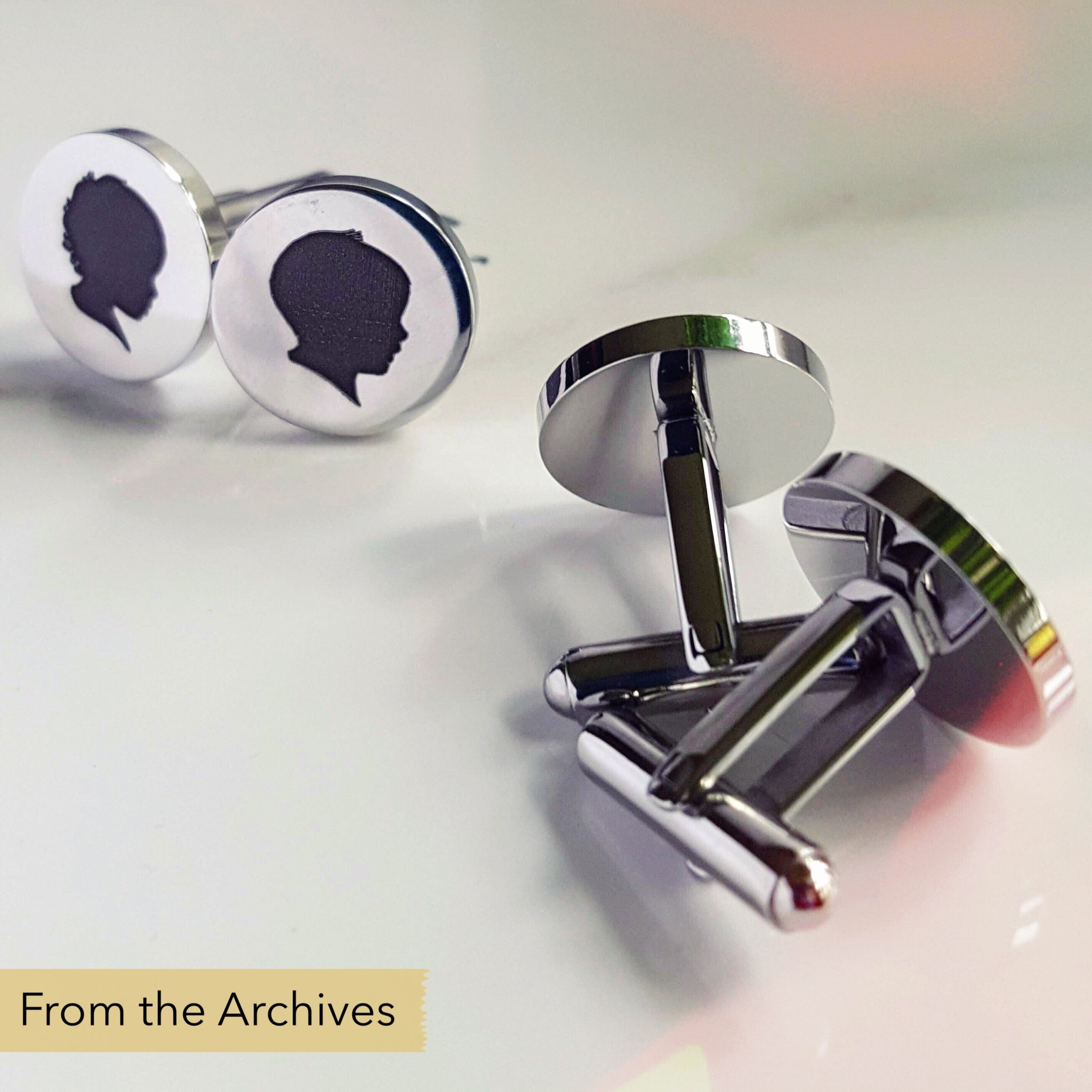 FROM THE ARCHIVES Silhouette Cufflinks (with two silhouettes)
