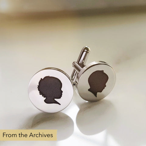 FROM THE ARCHIVES Silhouette Cufflinks (with one silhouette)