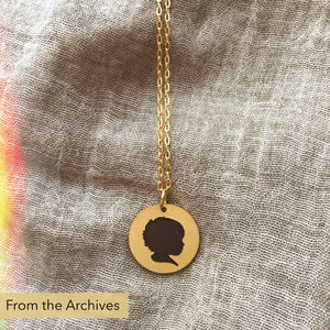 FROM THE ARCHIVES Gold Silhouette Necklace