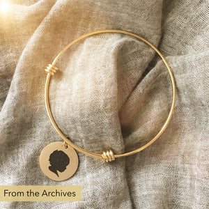 FROM THE ARCHIVES Gold Silhouette Expandable Bangle
