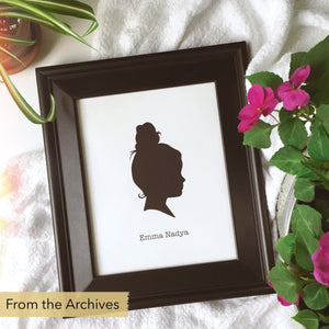 "FROM THE ARCHIVES 8x10"" Silhouette Paper-Cut"