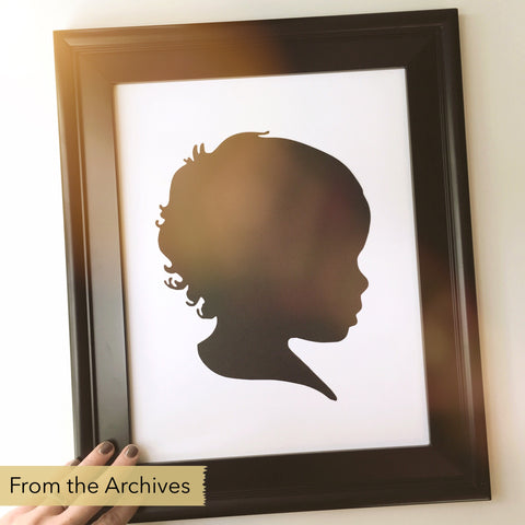 "FROM THE ARCHIVES 11x14"" Silhouette Paper-Cut"