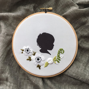 Silhouette Embroidered Hoop