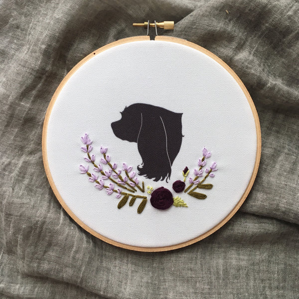 Custom Silhouette Embroidered Hoop