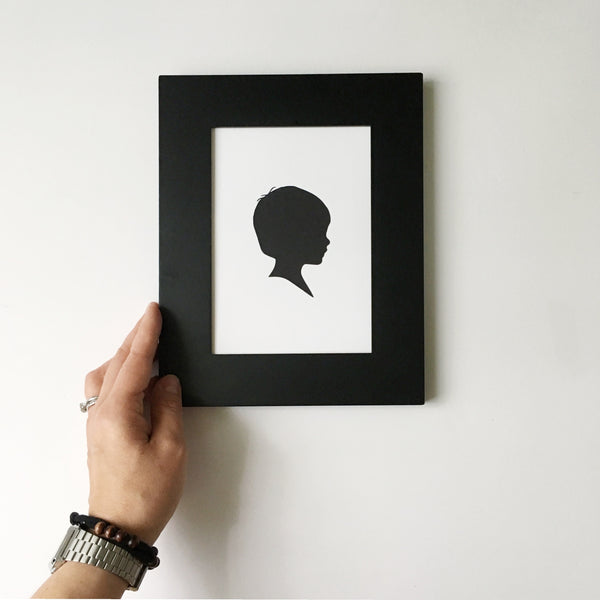 "FROM THE ARCHIVES 5x7"" Silhouette Paper-Cut"