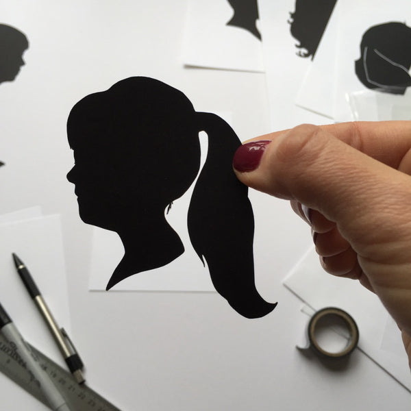"8x10"" with Two Silhouette Paper-Cuts"