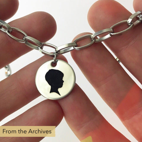 FROM THE ARCHIVES Silhouette Oval Link Charm Bracelet