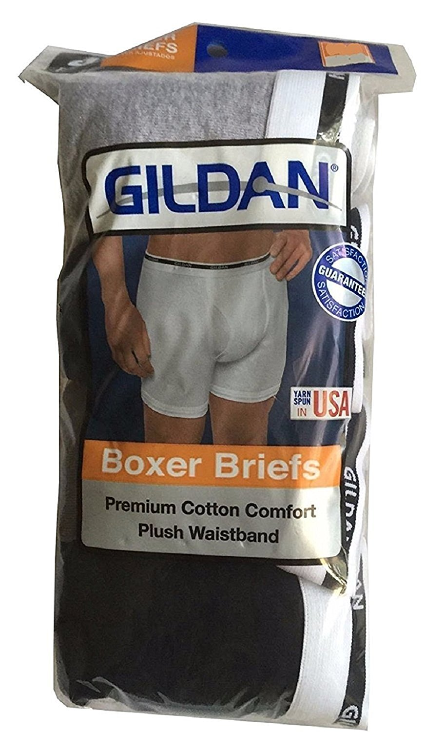 05867ada14ce Gildan Men's Boxer Briefs Premium Cotton Underwear 8-Pack – Basic ...