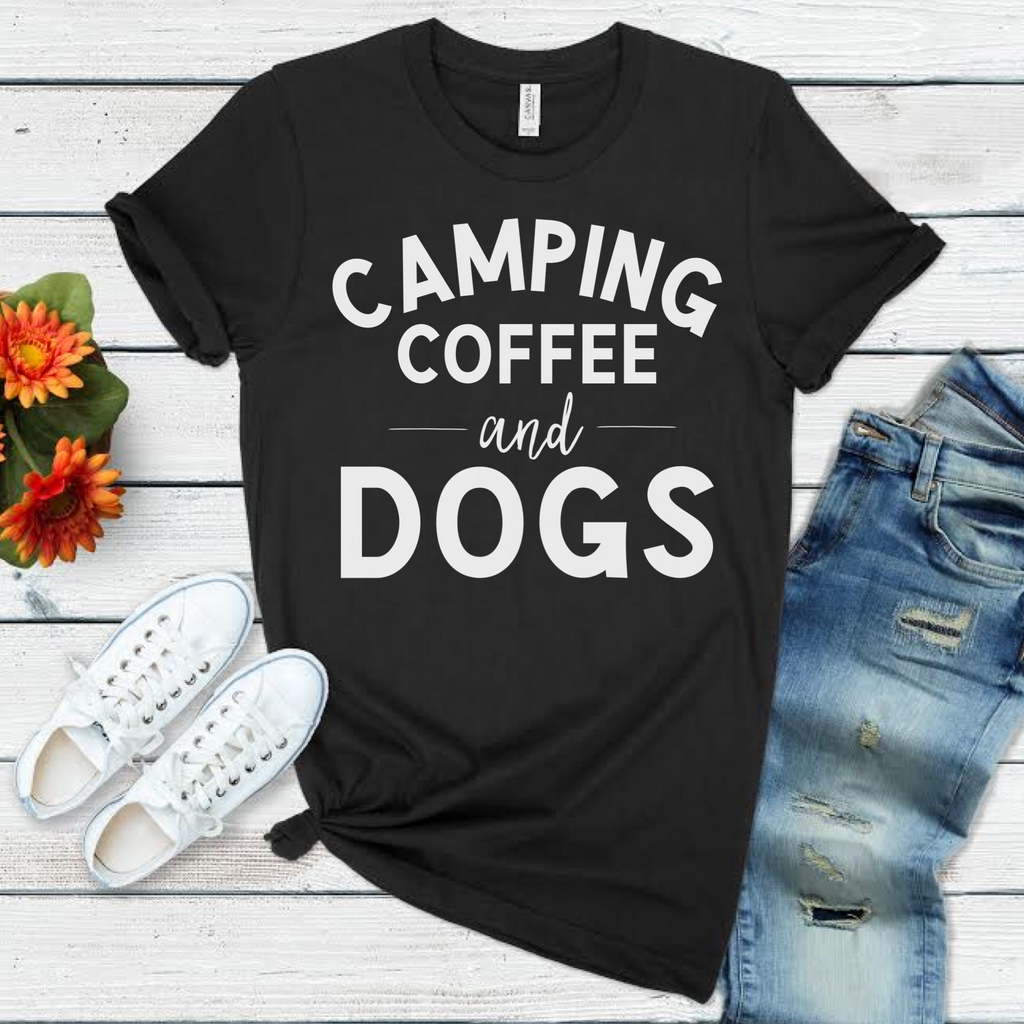 Camping, Coffee and Dogs in Black