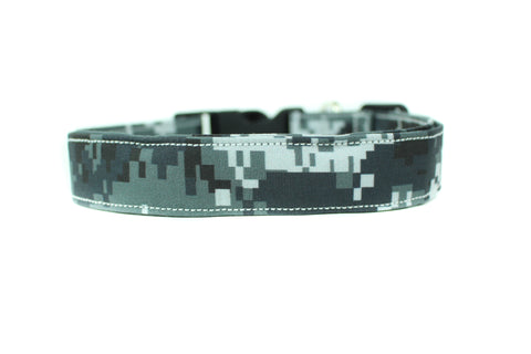 Navy Camouflage Dog Collar