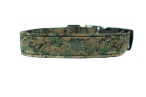 Woodland Camouflage Dog Collar
