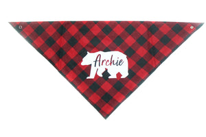 Buffalo Plaid Bear Bandana