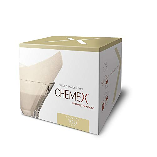 Chemex Classic Coffee Filters, Squares, 100 ct