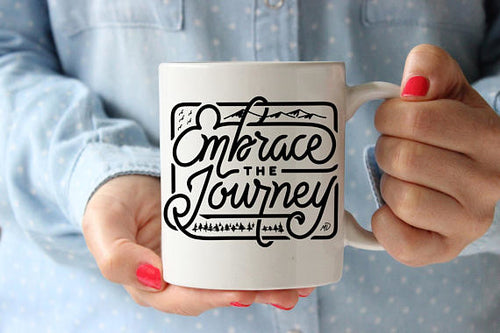 Journey Travel Mug Coffee Mug Quote Coffee Cup