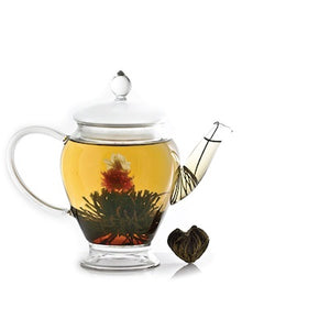 Flowering Tea Ball Black Tea, Globe Amaranth, Jasmine Strawberry & Cream