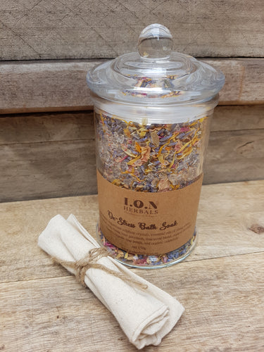 De-Stress Herbal Bath Soak to calm and relax you.