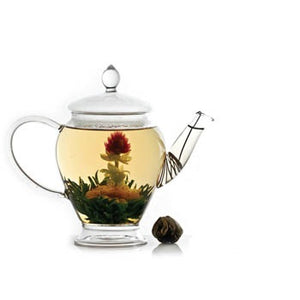 Flowering Tea of Green Tea, Globe Amaranth, Jasmine & Peppermint