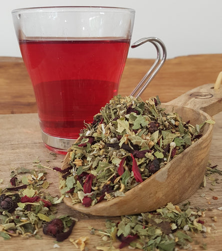 HOT FLASH tea is a blend of cooling, relaxing and supporting herbs that helps to reduce hot flushes.
