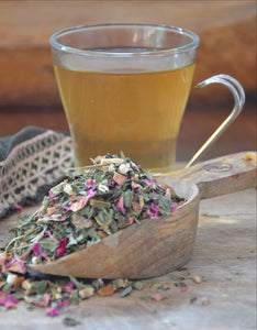 A herbal tea for PreMenstrual Symptoms.