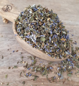 Aromatic and minty this refreshing herbal tea makes a great tasting chilled tea.
