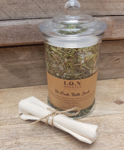 Re-Fresh Herbal Bath Soak to invigorate and revitalise you.