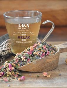 A herbal tea to minimise the impact of stress providing a relaxing effect.