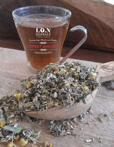A herbal tea blend of soothing herbs that may reduce anxiety, promote relaxation and evoke more vivid dreams.