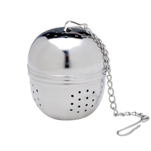 Stainless steel loose leaf tea ball infuser.