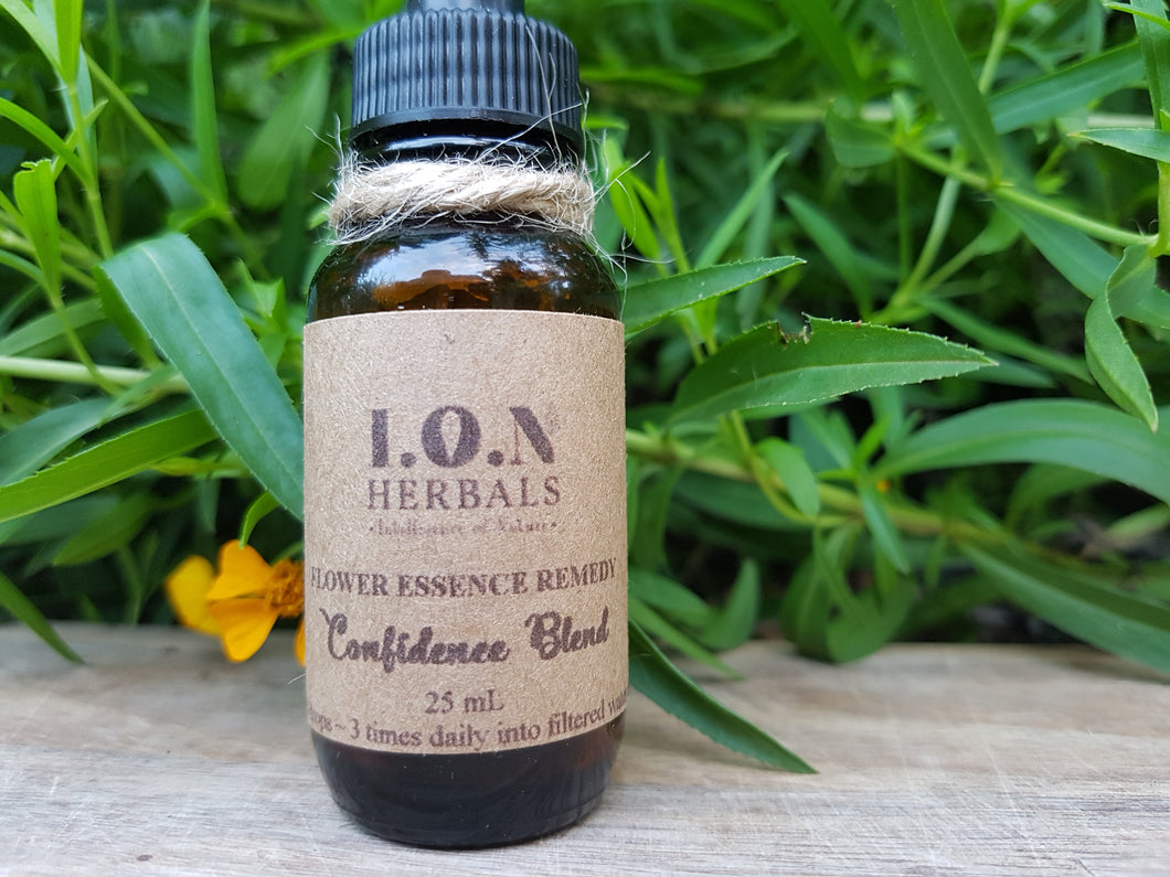 Confidence flower essence and herbal blend can be used for loss or lack of self-confidence, self-expression, or self-assertion, helping to achieve your personal best.