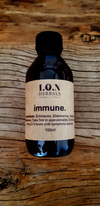 immune herbal tincture for cold, coughs and flu support