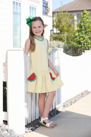 Watermelon Applique Dress