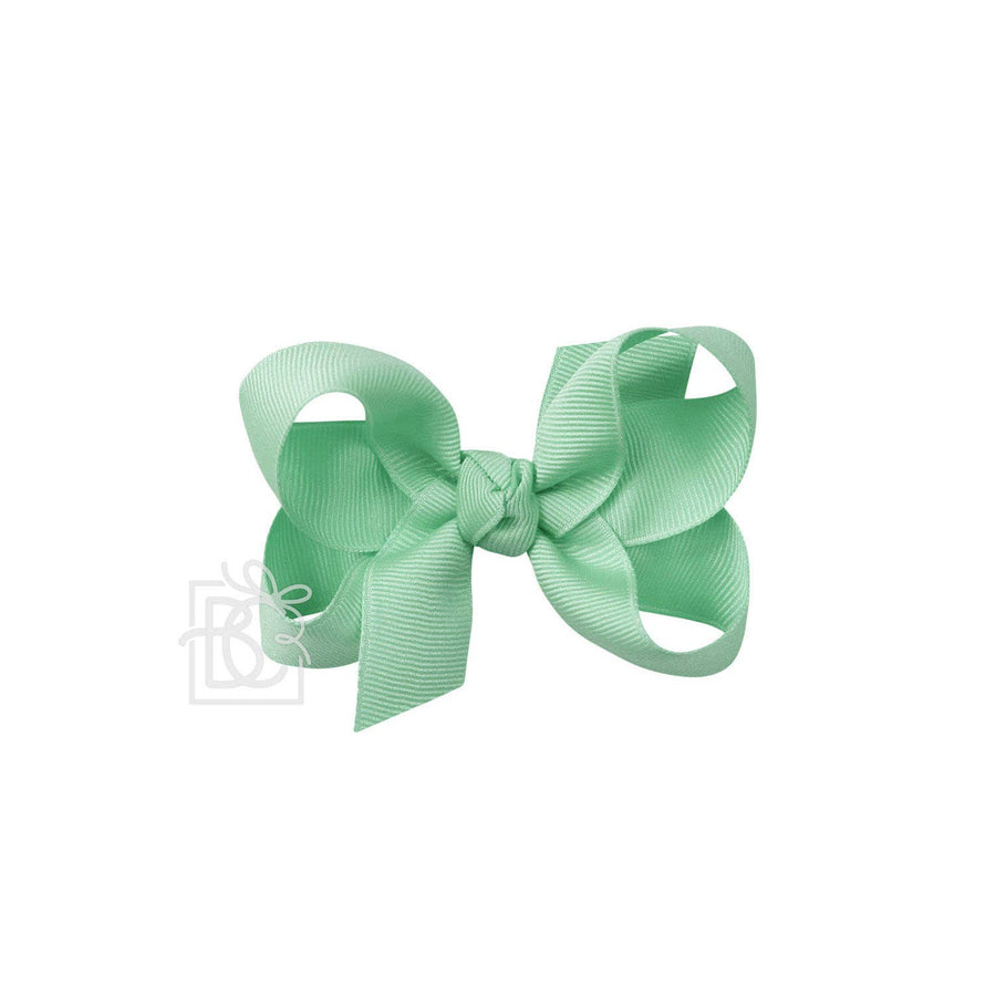 Grosgrain Bow On Clip 3.5 Inch (14 Color Options)