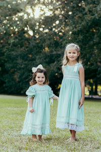 Sleeveless Mint Heirloom Dress PREORDER