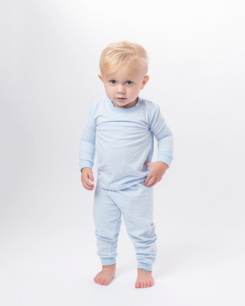Light Blue Stripe Loungewear
