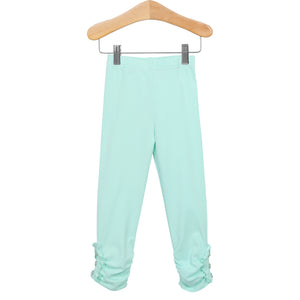 Ruffle Button Leggings Mint