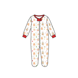 Gingerbread Footie Pima Loungewear