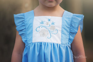 Ice Queen Embroidery Dress