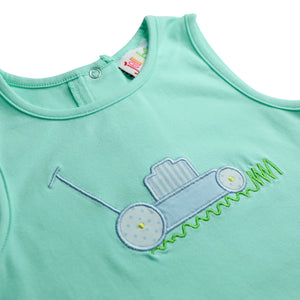 Lawn Mower Applique Bubble
