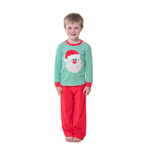 Santa Face Applique Boys Pants Set