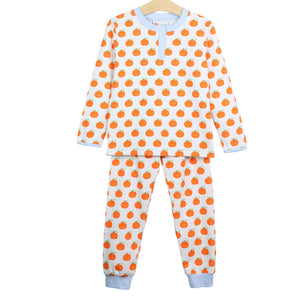 Watercolor Pumpkin Boys Loungewear