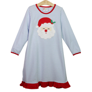 Santa Face Applique Loungewear Gown
