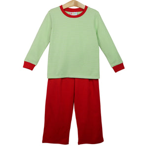 Green Stripe Thomas Pants Set