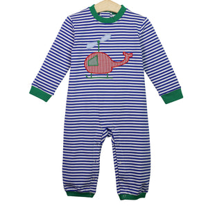 Helicopter Applique Romper