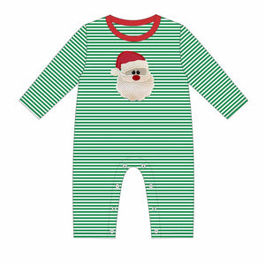 Santa Face Applique Romper